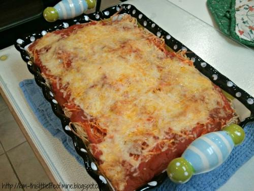 Baked Cream Cheese Spaghetti Casserole