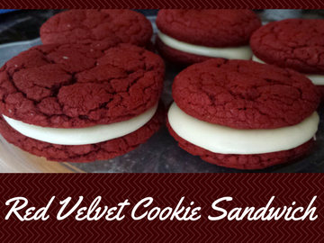 Red Velvet Cookie Sandwiches