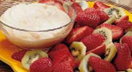 Yummy healthy fruit dip