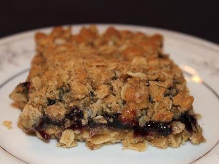 Blueberry Oatmeal Squares