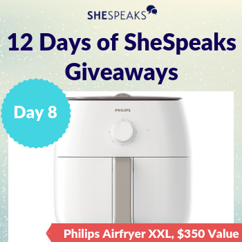 12 Days of SheSpeaks, Day 8: <br />Win a Philips Airfryer XXL, valued at $350!