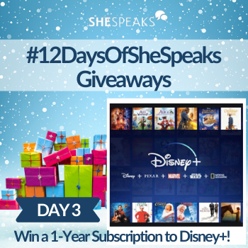 12 Days of SheSpeaks, Day 3: Win a Disney+ 1-Year Subscription!