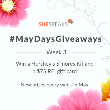 #MayDaysGiveaways Under the Stars! Enter to Win a Hershey's S'mores Kit & $75 REI Gift Card!