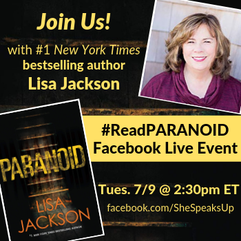Chance to Win! Facebook Live with #ReadPARANOID Author Lisa Jackson