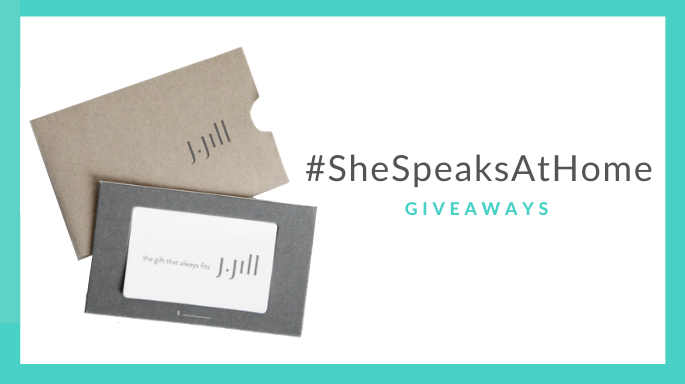 #SheSpeaksAtHome: 3 Chances to Win $200 J.Jill Gift Cards