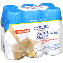 Equate Vanilla Nutrition…