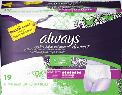 Always Discreet Maximum Absorbency Underwear