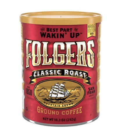 Folgers Vintage Tin Classic Roast Ground Co…