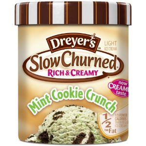 Dreyers Mint Cookie Crunch Slow Churned Ice Cream