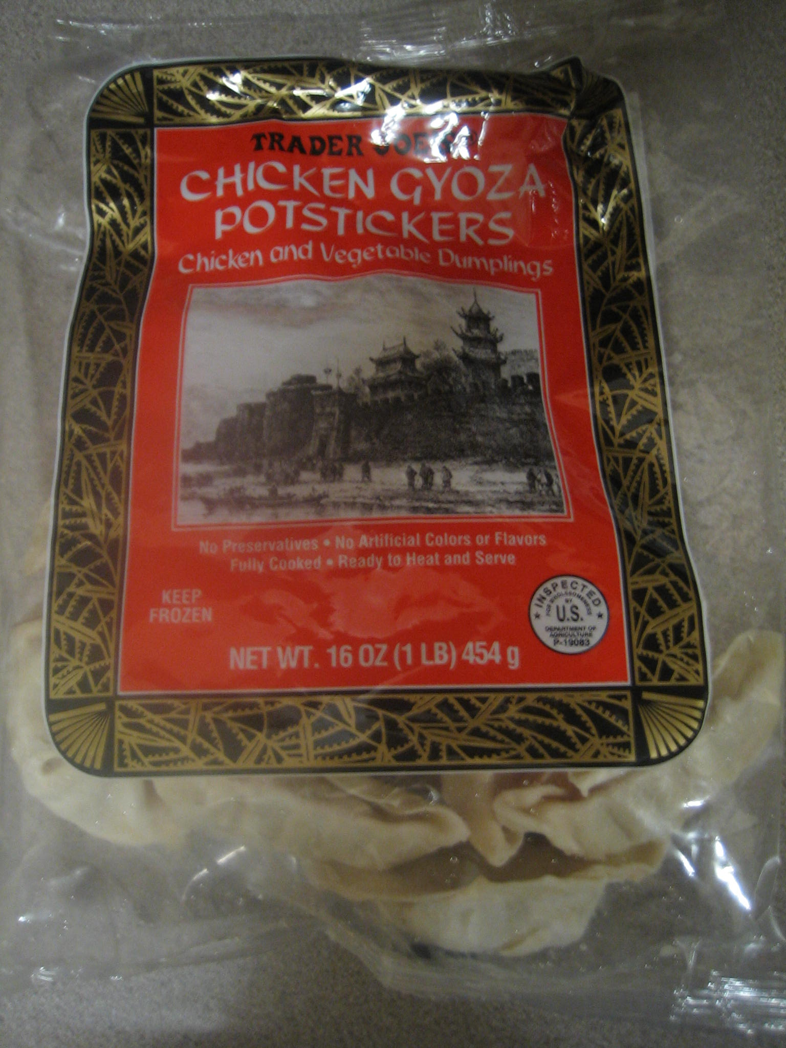 Trader Joe's Chicken Gyoza Pot Stickers