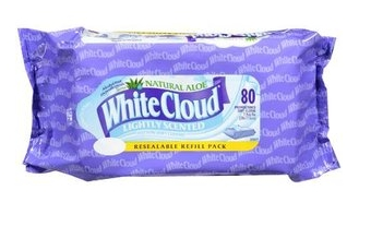 White Cloud baby wipes